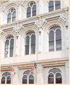 Facade of the Central Bank of Montgomery, Alabama