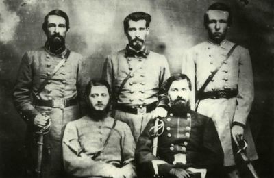 Old Photo of Five Soldiers