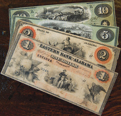 Bank notes issued by Eastern Bank of Eufaula