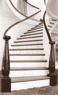Oakleigh's curved exterior stair