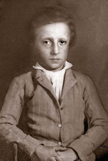 William Seaborn Johnson as a child.
