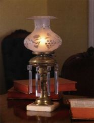 brass astral lamp