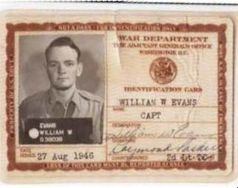 Capt. Bill Evans's military ID